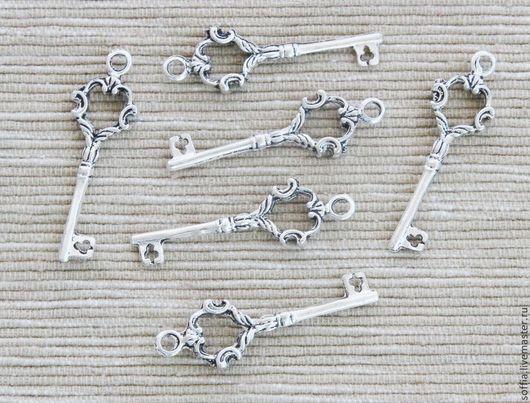 Для украшений ручной работы. Ярмарка Мастеров - ручная работа. Купить Декоративный элемент-ключик (3 шт/уп).261029. Handmade.
