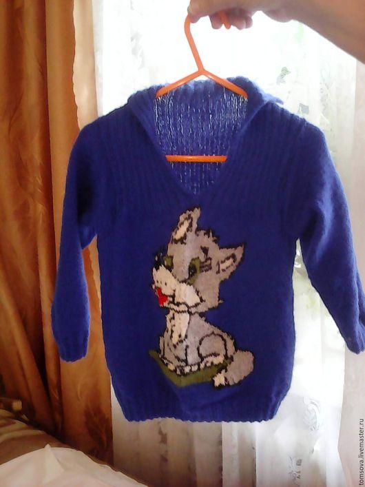 """Одежда для мальчиков, ручной работы. Ярмарка Мастеров - ручная работа. Купить джемпер""""Волчок"""". Handmade. Тёмно-синий, вязание на заказ, для малышей"""