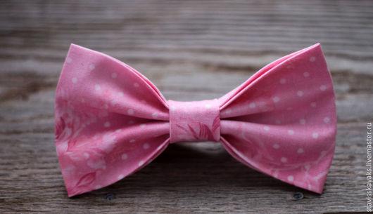 Галстуки, бабочки ручной работы. Ярмарка Мастеров - ручная работа. Купить Галстук-бабочка. Handmade. Бледно-розовый, цветочный