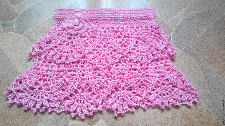 Крючком для новорожденны юбки