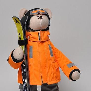 Куклы и игрушки ручной работы. Ярмарка Мастеров - ручная работа Мишка - горнолыжник. Handmade.