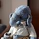 Мишки Тедди ручной работы. Ярмарка Мастеров - ручная работа. Купить Слоняш. Handmade. Голубой, древесные опилки, батист