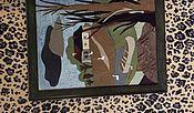 Для дома и интерьера ручной работы. Ярмарка Мастеров - ручная работа Картина из кожи пейзаж. Handmade.