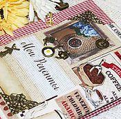 """Канцелярские товары ручной работы. Ярмарка Мастеров - ручная работа Кулинарная книга """"Мои рецепты"""". Handmade."""