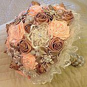Свадебный салон ручной работы. Ярмарка Мастеров - ручная работа Брошь букет невесты. Handmade.