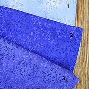 Материалы для творчества ручной работы. Ярмарка Мастеров - ручная работа Ткань для печворка в синей гамме. Handmade.