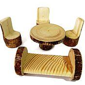 Мебель для кукол ручной работы. Ярмарка Мастеров - ручная работа Кукольная мебель с корой. Handmade.