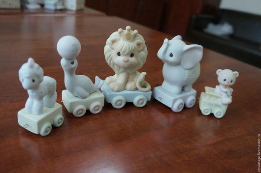 Винтажные куклы и игрушки. Ярмарка Мастеров - ручная работа. Купить Винтажная фарфоровая фигурка  PRECIOUS MOMENTS ЗООПАРК. Handmade. фарфор