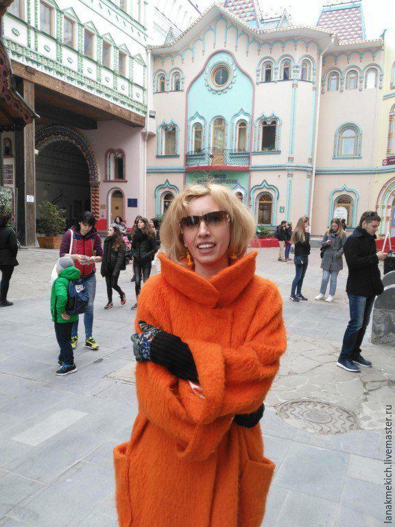 Easy mohair coat 'Orange', Coats, Moscow,  Фото №1