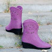 """Обувь ручной работы. Ярмарка Мастеров - ручная работа Сапоги из войлока """"Cowgirl Boots"""". Handmade."""