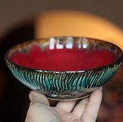 Посуда ручной работы. Ярмарка Мастеров - ручная работа Конфетница керамическая Есть на свете цветок алый-алый. Handmade.
