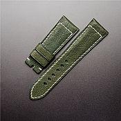 handmade. Livemaster - original item Calf leather watchband (24). Handmade.