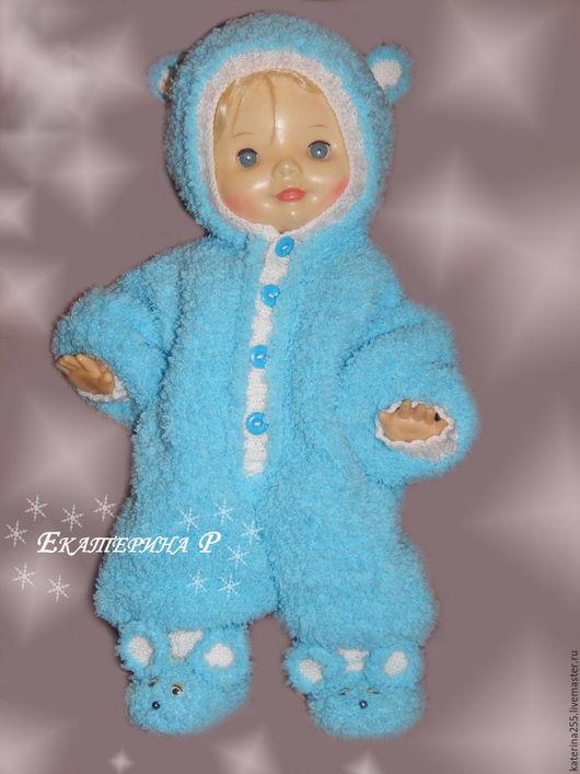 """Одежда ручной работы. Ярмарка Мастеров - ручная работа. Купить Комплект """"Мышонок"""". Handmade. Голубой, однотонный, малыш, новорожденному мальчику"""