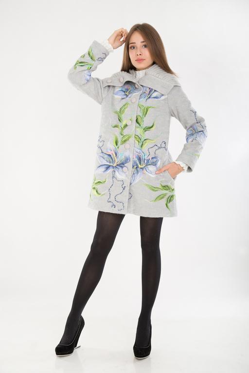 Верхняя одежда ручной работы. Ярмарка Мастеров - ручная работа. Купить СВ 44. Handmade. Серый, пальто, пальто с капюшоном