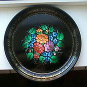 Русский стиль handmade. Livemaster - original item Zhostovo tray. Copyright.. Handmade.
