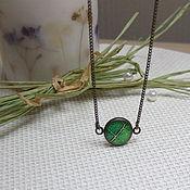 Украшения handmade. Livemaster - original item Pendant Leaf Emerald Green Delicate Forest Nature Eco Resin. Handmade.