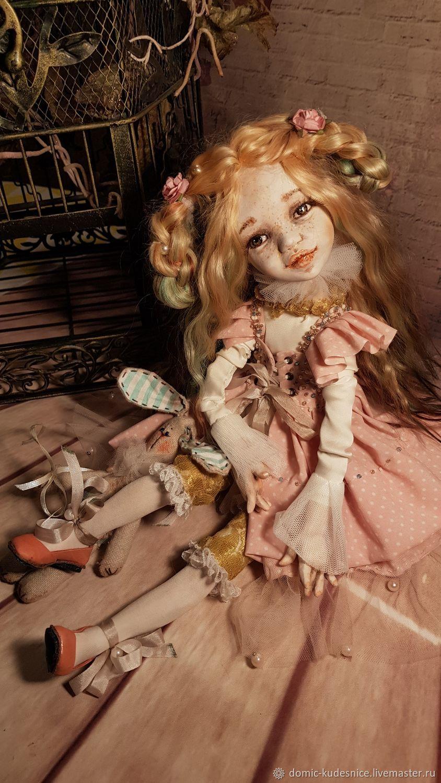 Коллекционная кукла Мишель с зайкой, Шарнирная кукла, Ростов-на-Дону,  Фото №1