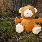 Куклы и игрушки ручной работы. Ярмарка Мастеров - ручная работа Плюшевый  мишка хлопковый. Handmade.