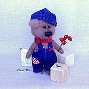 Куклы и игрушки ручной работы. Ярмарка Мастеров - ручная работа Тэдди пёсик Дружок. Handmade.