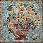 Картины и панно ручной работы. Ярмарка Мастеров - ручная работа Мозаичное панно: Цветочные фантазии - 6. Handmade.