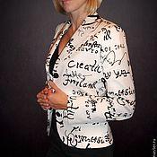 "Одежда ручной работы. Ярмарка Мастеров - ручная работа Жакет ""BLACK&WHITE"". Handmade."