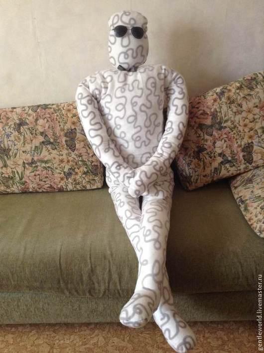 Текстиль, ковры ручной работы. Ярмарка Мастеров - ручная работа. Купить Подушка-человек. Handmade. Чёрно-белый, подушка-игрушка