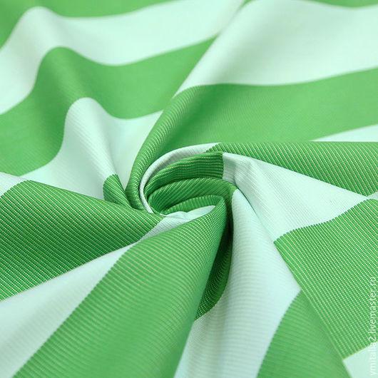 Шитье ручной работы. Ярмарка Мастеров - ручная работа. Купить Хлопковый репс в бело-зеленую полоску D&G. Handmade.