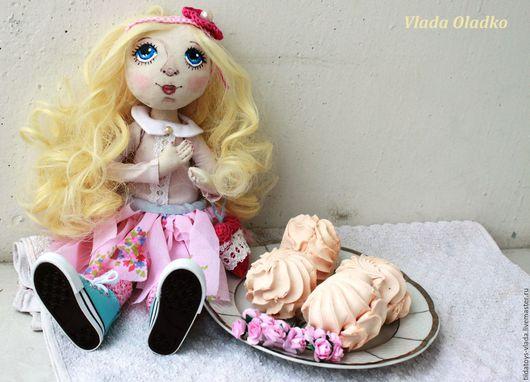 Коллекционные куклы ручной работы. Ярмарка Мастеров - ручная работа. Купить Интерьерная кукла Зефирка. Handmade. Бледно-розовый, розовый