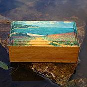 Для дома и интерьера handmade. Livemaster - original item Trinket box Sea View from the Yellow Path. Handmade.