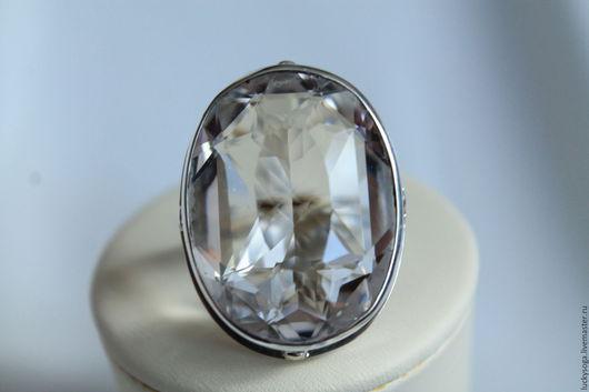 """Кольца ручной работы. Ярмарка Мастеров - ручная работа. Купить кольцо с горным хрусталем"""" Аврора"""". Handmade. Белый, серебряные украшения"""