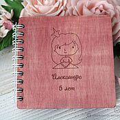 Канцелярские товары handmade. Livemaster - original item Notebook with wooden cover and engraved. Handmade.