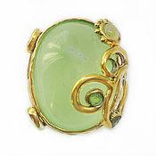 Украшения handmade. Livemaster - original item Author`s ring made of 925 silver with prenite, opal and chrysolites. Handmade.
