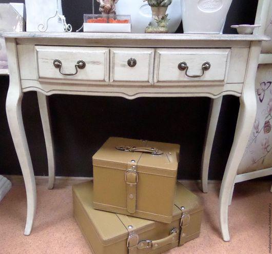 """Мебель ручной работы. Ярмарка Мастеров - ручная работа. Купить Консольный столик """"Будуар леди"""". Handmade. Бежевый, консоль, интерьер"""
