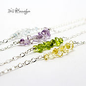 Украшения handmade. Livemaster - original item chain bracelet with semi-precious stones
