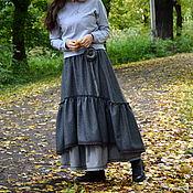 """Одежда ручной работы. Ярмарка Мастеров - ручная работа Юбка в стиле бохо """"Серенькая"""". Handmade."""