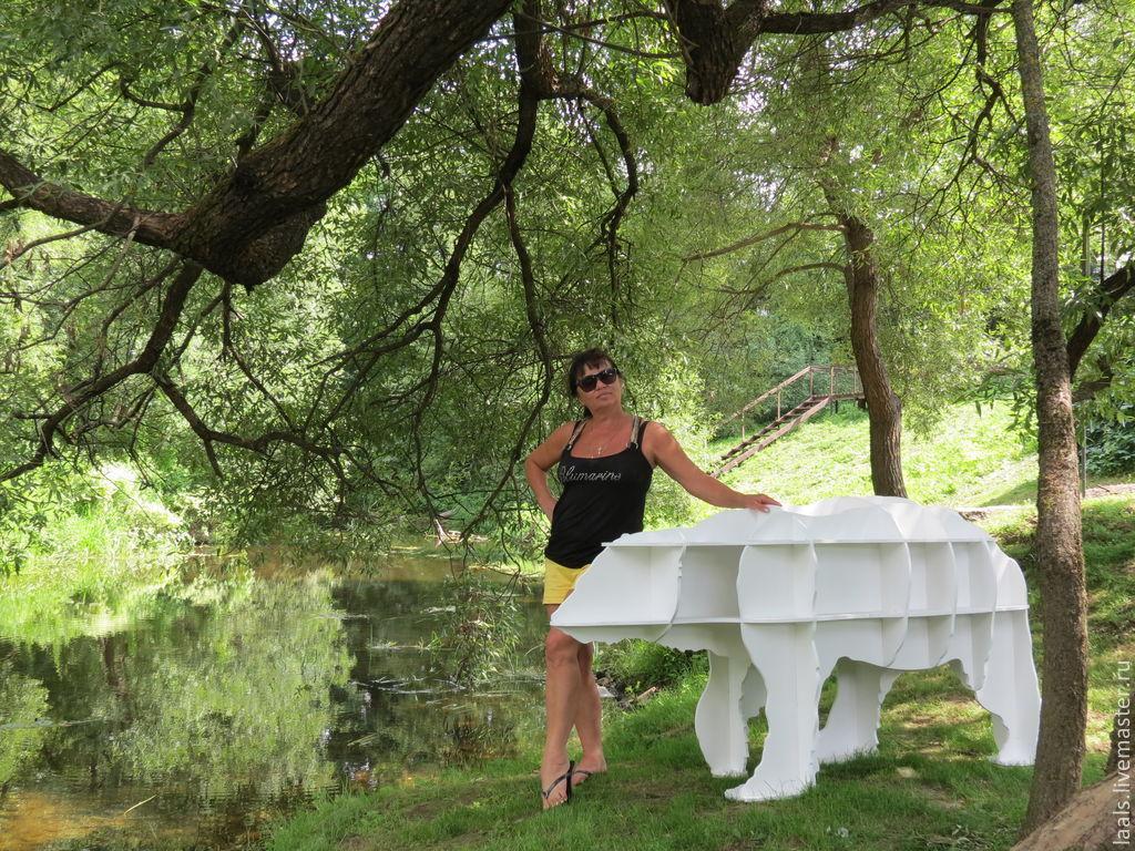 """Живой стеллаж """"Белый медведь,домашний"""".Ходит и рычит!, Полки, Подольск,  Фото №1"""