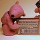 """Мишки Тедди ручной работы. Заказать """"Розовый мишка"""" мини-Тедди. 'ВОЛШЕБНОЕ ЛУКОШКО'. Ярмарка Мастеров. Эксклюзив, кукольный дом"""