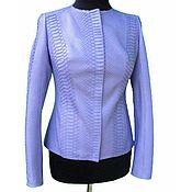 Одежда handmade. Livemaster - original item Female jacket from a natural Python in the lavender color. Handmade.