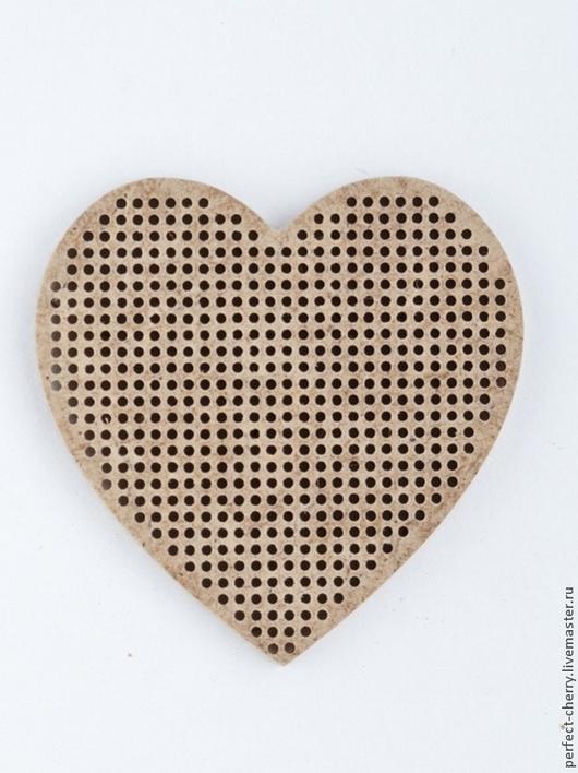 """Вышивка ручной работы. Ярмарка Мастеров - ручная работа. Купить Основа для вышивания """"Сердце"""". Handmade. Бежевый, вышивка, Вышивка крестом"""