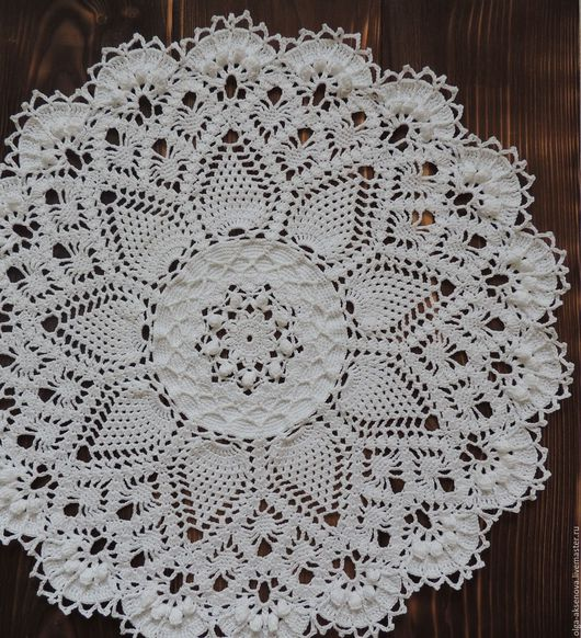 """Текстиль, ковры ручной работы. Ярмарка Мастеров - ручная работа. Купить Салфетка """"Grand"""". Handmade. Белый, салфетка, салфетка крючком"""