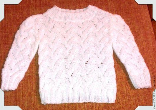 """Одежда для девочек, ручной работы. Ярмарка Мастеров - ручная работа. Купить Кофта для девочки """"Ажурная"""". Handmade. Белый, детское"""