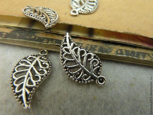 Для украшений ручной работы. Ярмарка Мастеров - ручная работа. Купить 30 шт металлические подвески старинное серебро Дерево листьев C3962. Handmade.