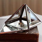 Свадебный салон handmade. Livemaster - original item Silver box. Box Pyramid. Box of glass. Handmade.