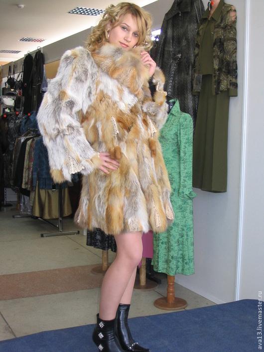 Верхняя одежда ручной работы. Ярмарка Мастеров - ручная работа. Купить Костюм из меха лисы. Handmade. Рыжий, шубка, синтепон