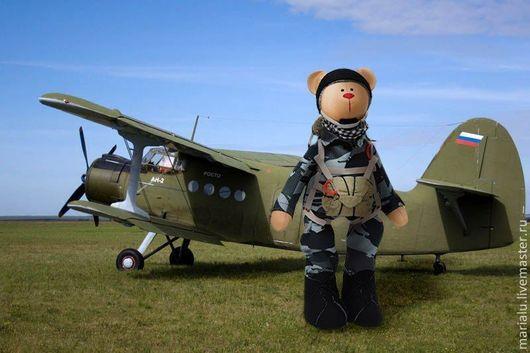 Куклы Тильды ручной работы. Ярмарка Мастеров - ручная работа. Купить Медведь парашютист. Handmade. Бежевый, тильда, интерьерная кукла