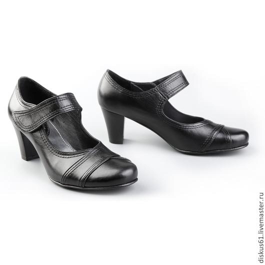 Обувь ручной работы. Ярмарка Мастеров - ручная работа. Купить Туфли женские М-312. Handmade. Черный, кожа натуральная