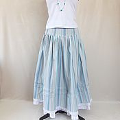Одежда handmade. Livemaster - original item Long, striped skirt country style. Handmade.