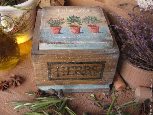 """Корзины, коробы ручной работы. Ярмарка Мастеров - ручная работа. Купить """" The Herb Garden.."""" Короб.. Handmade."""