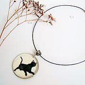 Украшения handmade. Livemaster - original item Pendant Black cat Gothic Halloween Pendant Transparent Resin. Handmade.