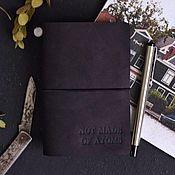 Канцелярские товары handmade. Livemaster - original item A pocket-size genuine leather. Handmade.